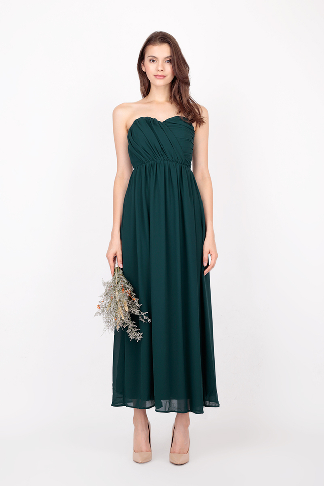 NATALIE RUCH MAXI DRESS IN FOREST