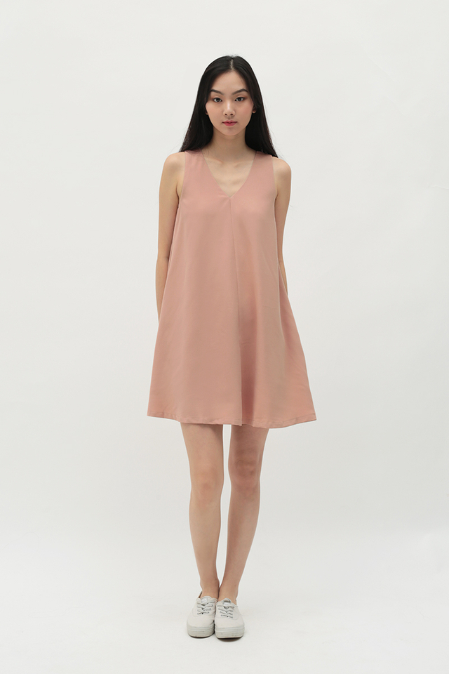 MELISSA TWO WAY TANK DRESS IN FRENCH PINK