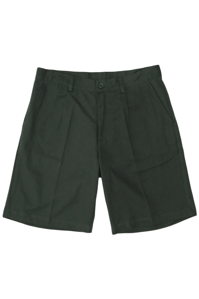 ROBBIE PLEATED SHORTS IN FOREST