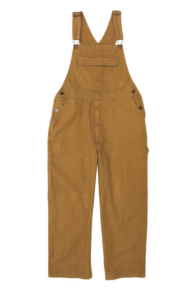 BROCK WIDE-LEG OVERALLS IN CAMEL