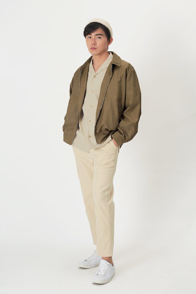 CHACE ELASTIC WAIST TROUSERS IN CREAM