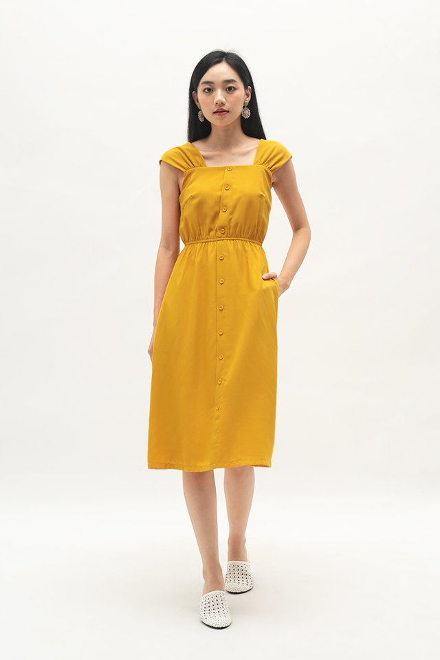 DANICA BUTTON DRESS IN HONEY