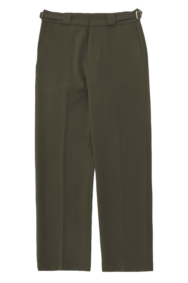 GARTH STRAIGHT-FIT TROUSERS IN OLIVE