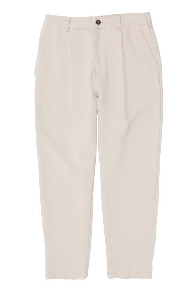 LOWRY RELAXED-FIT TROUSERS IN CREAM
