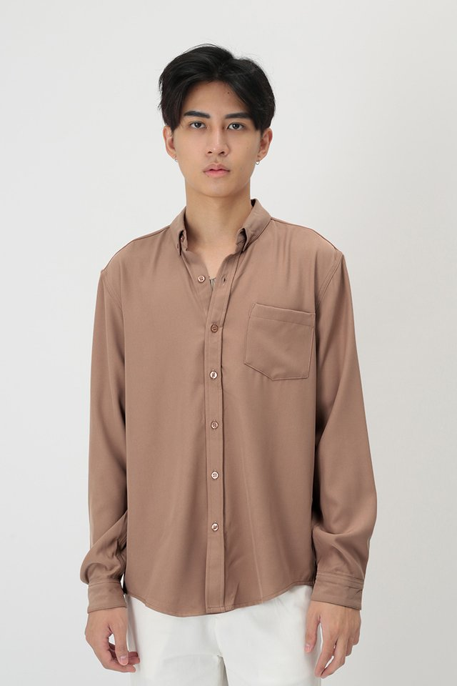 FELIX LONG SLEEVE SHIRT IN BLUSH