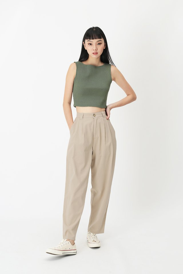 ASHBY PLEATED PANTS IN OAT