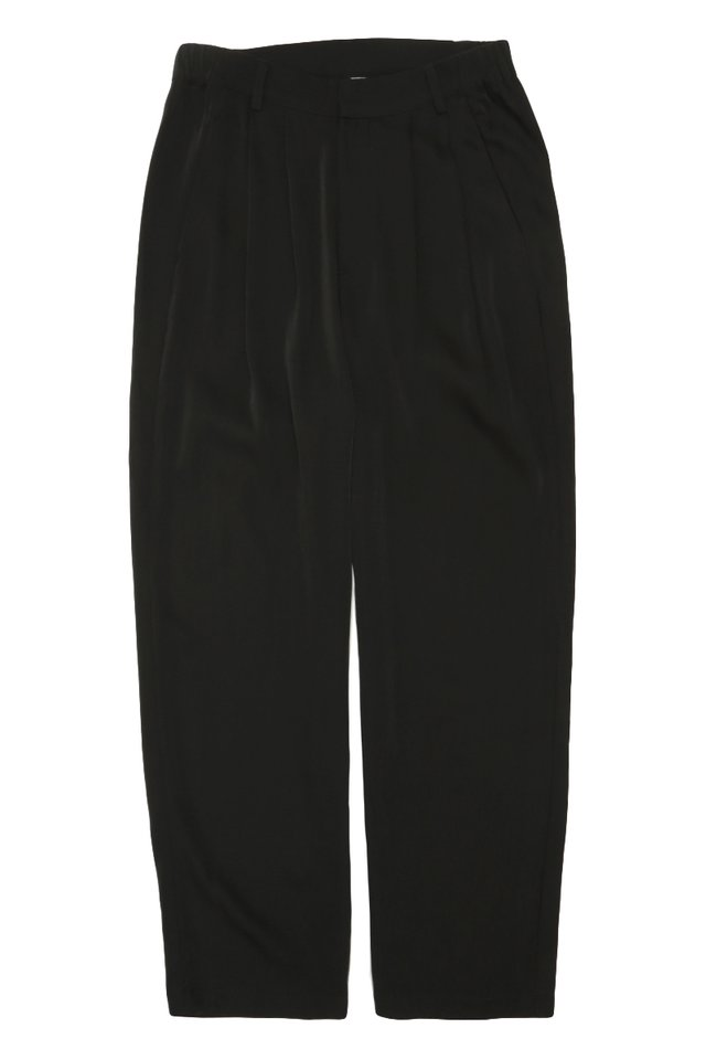 BEAU DRAPE TROUSERS IN BLACK