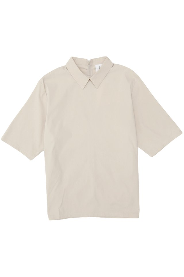 REID POINTED COLLAR SHIRT IN SAND