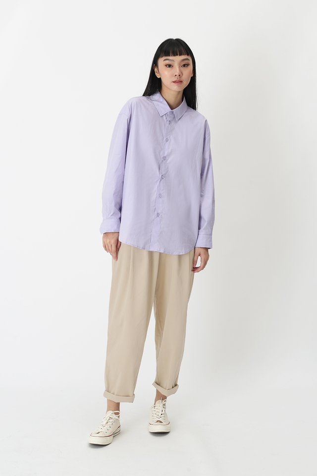 REMY OVERSIZED SHIRT IN LILAC