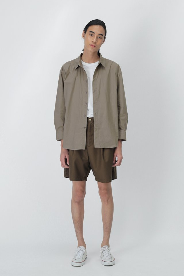 REMY OVERSIZED SHIRT IN STONE