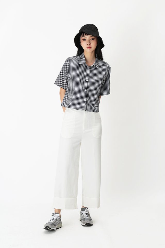 ALASTAIR CUFF CULOTTES IN WHITE