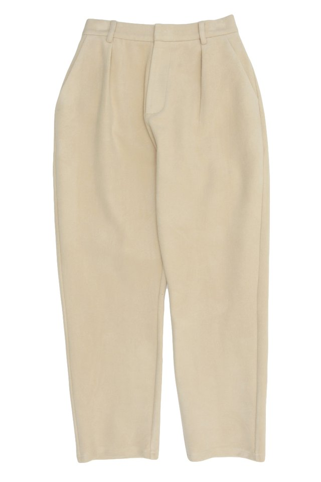 HEATH TAPERED-FIT TROUSERS IN CREAM