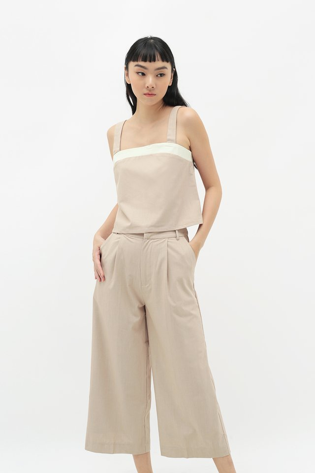 EIRA CONTRAST TOP IN BISQUE