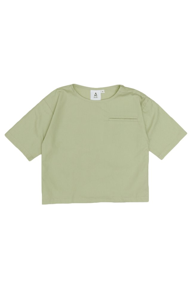 DILL POCKET TOP IN SAGE