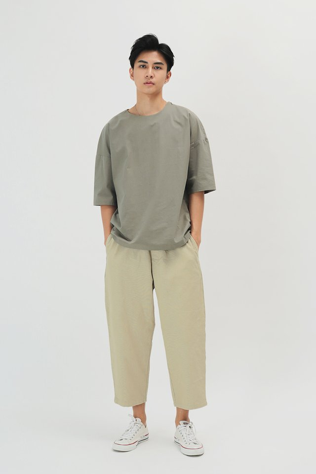 KYOU WIDE-FIT WORK TROUSERS IN SAND