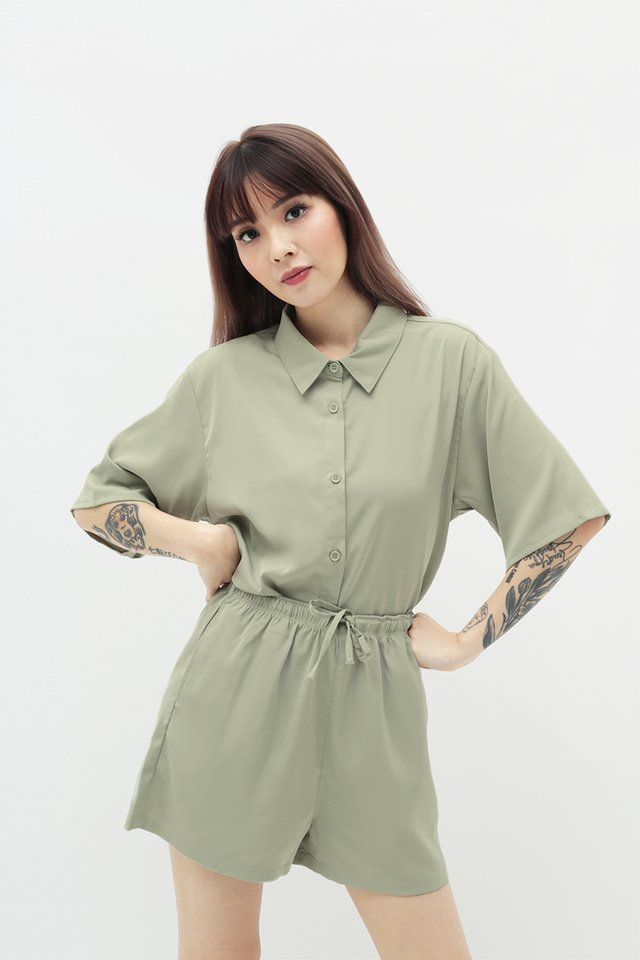 MAURIE BUTTON SHIRT IN SAGE