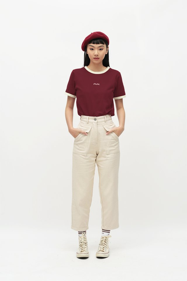 DALTON POCKET JEANS IN ECRU