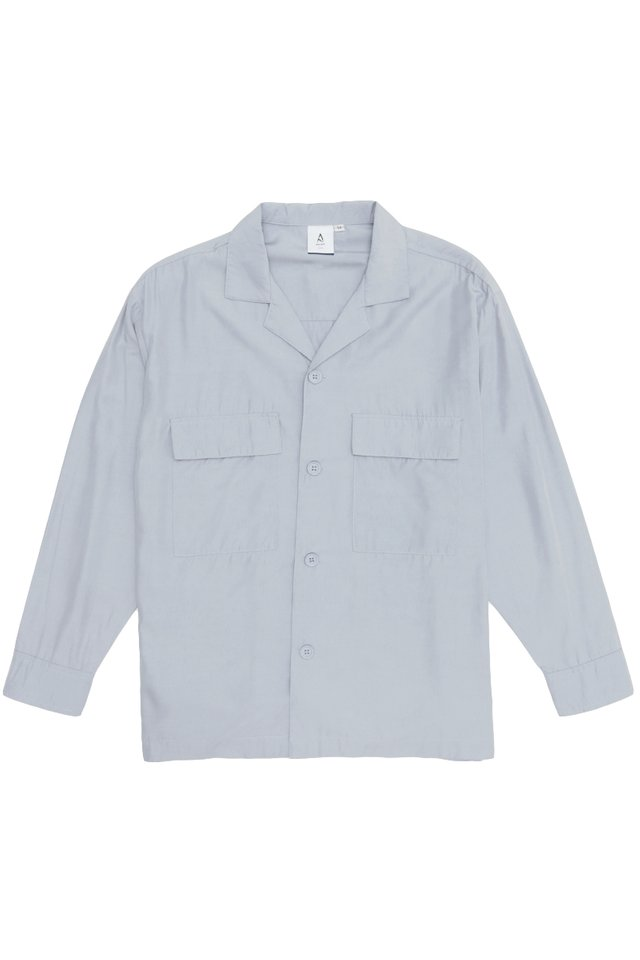 LOREN CAMP COLLAR POCKET SHIRT IN LAVENDER