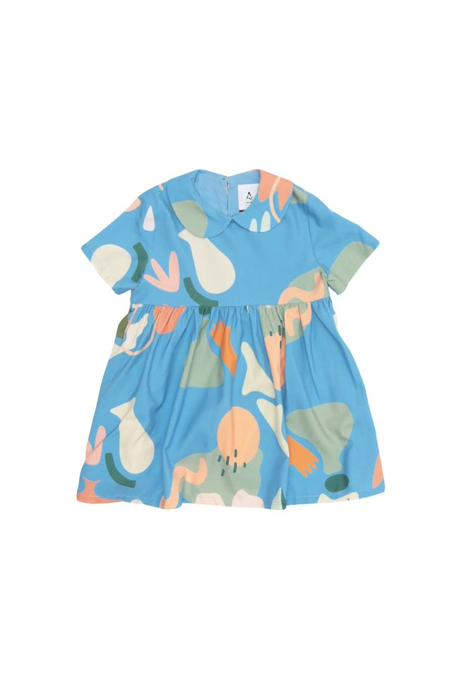 WILDFLOWER CHILD COLLAR DRESS IN SKY