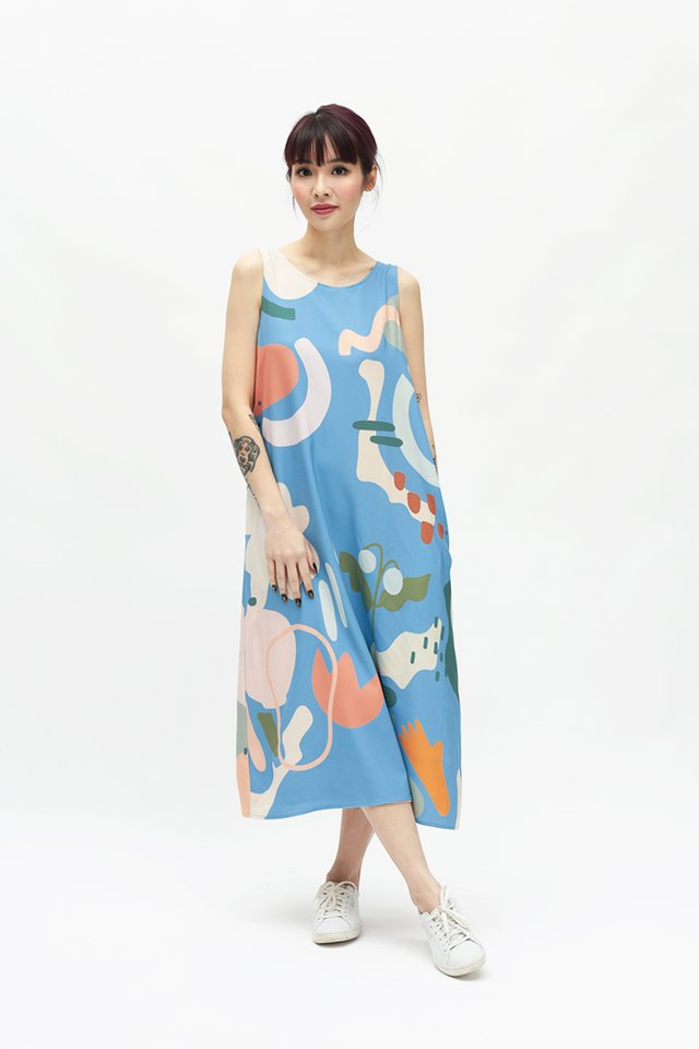 WILDFLOWER CHILD FOUR WAY DRESS IN SKY
