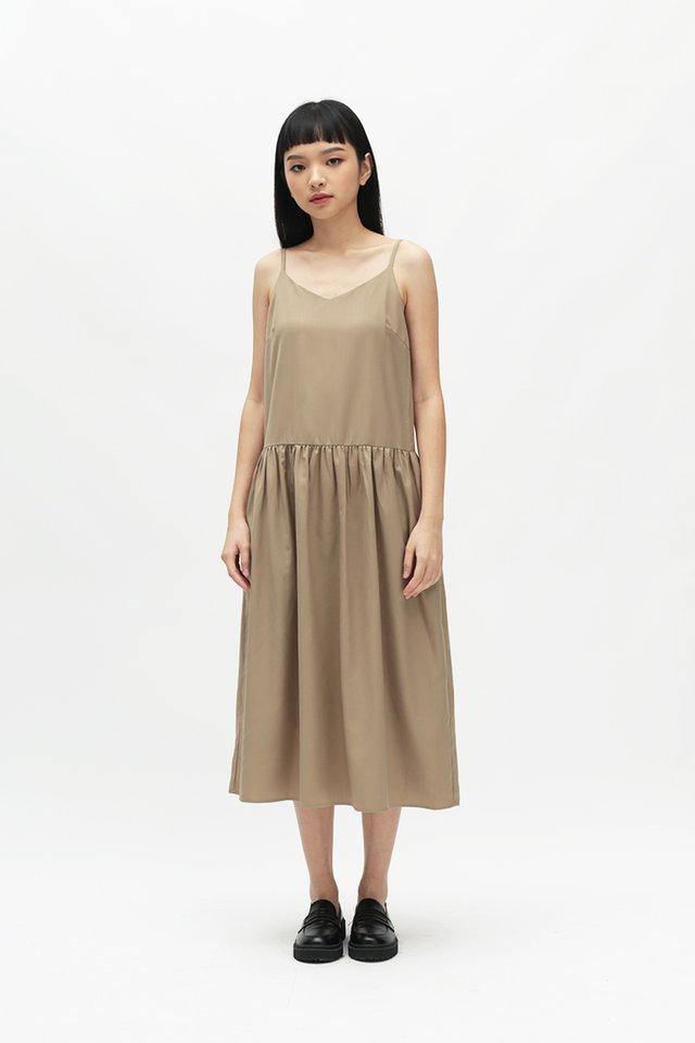 JOVI SPAG DRESS IN KHAKI