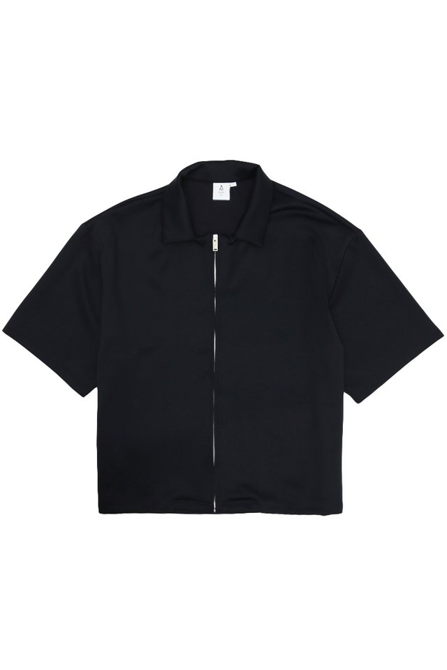 PAXTON ZIP OVERSHIRT IN NAVY