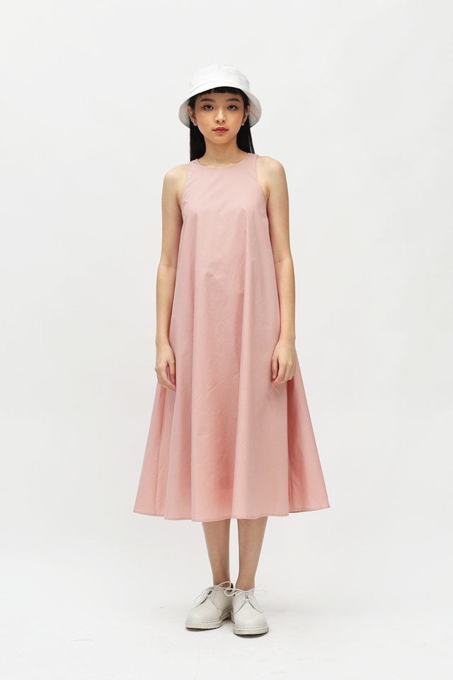 ANNALISE MIDI DRESS IN BLUSH