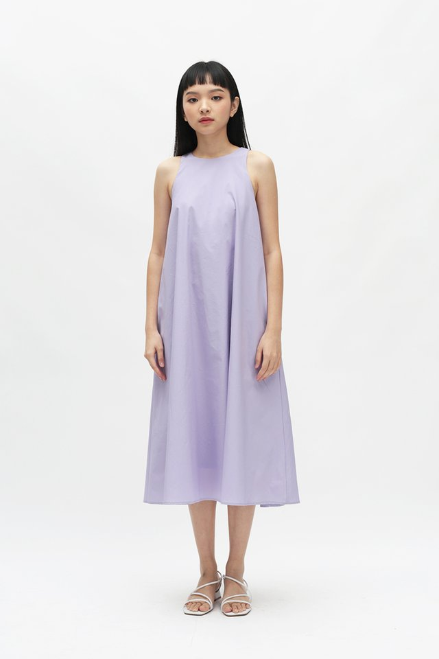 ANNALISE MIDI DRESS IN LILAC