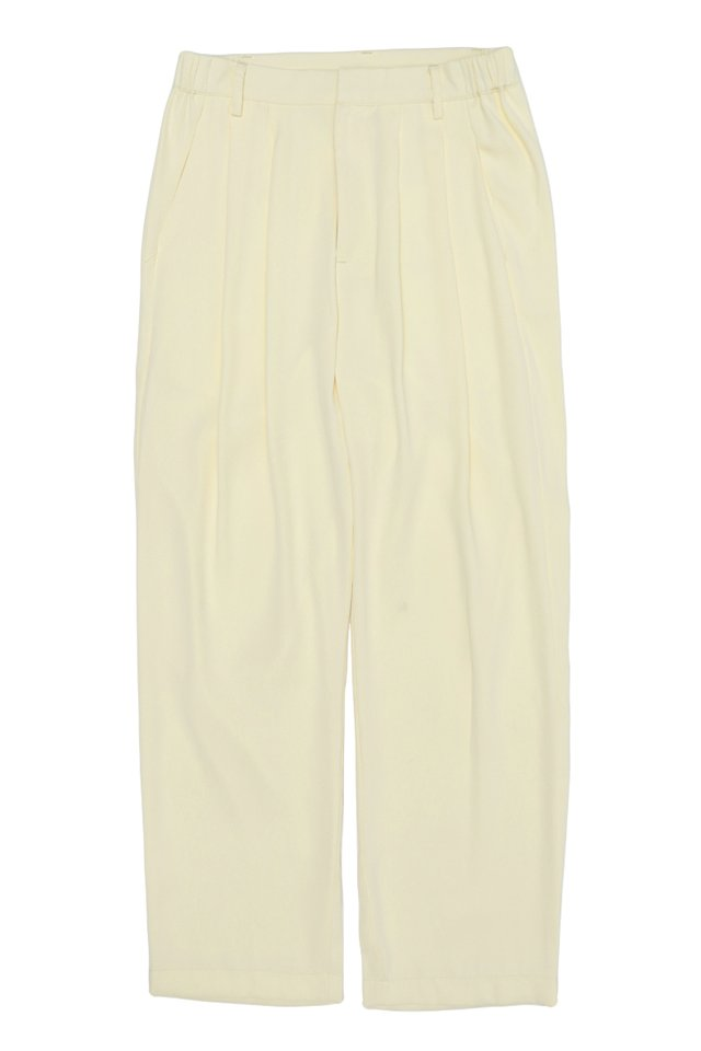 BEAU DRAPE TROUSERS IN CREAM