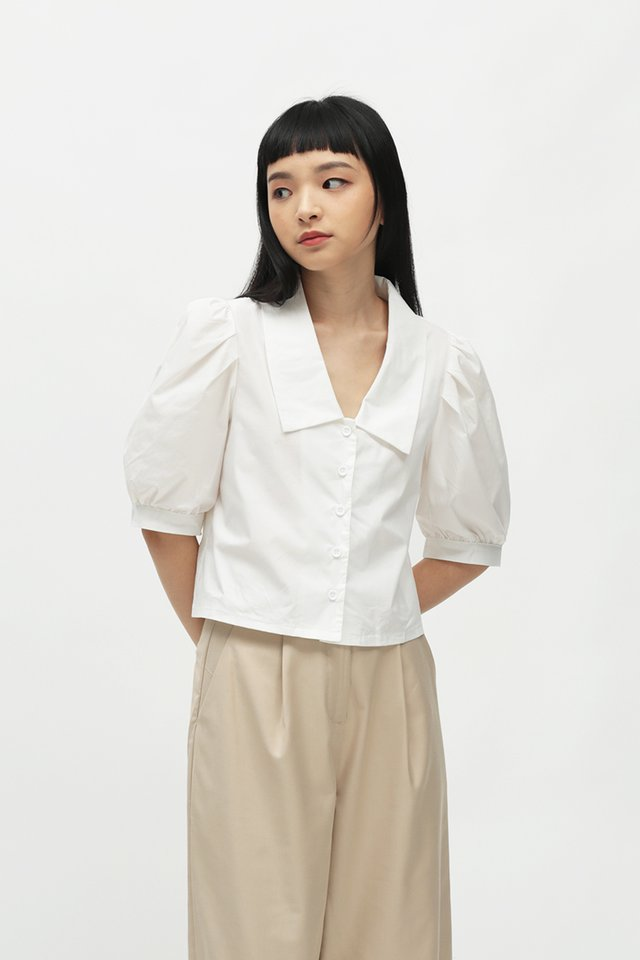 DOROTHY PUFF SLEEVE BLOUSE IN WHITE