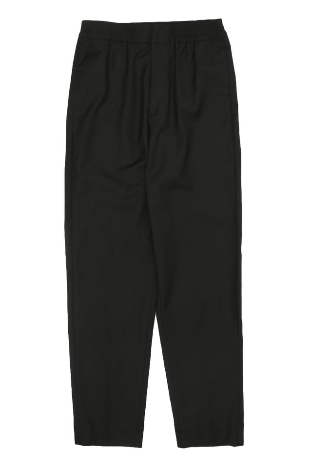 GRAYSON SLIM-FIT ELASTIC WAIST TROUSERS IN BLACK