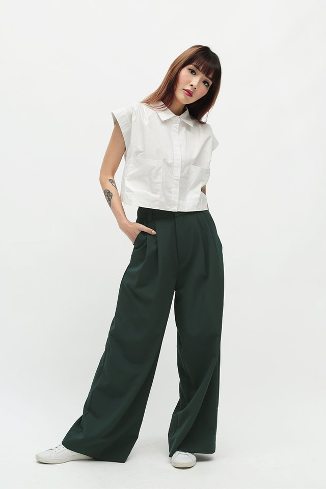 CHELLA PALAZZO PANTS IN FOREST