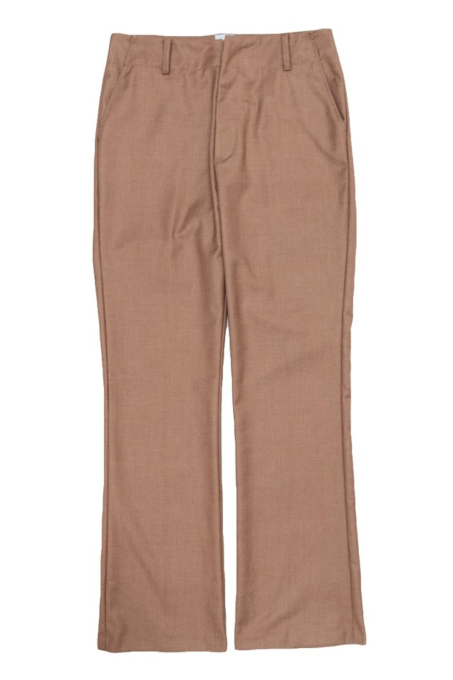 JIMI FLARED TROUSERS IN REDWOOD