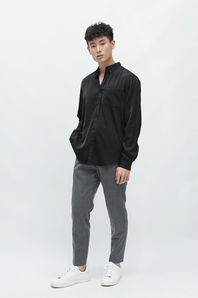 LANE RAYON SHIRT IN BLACK
