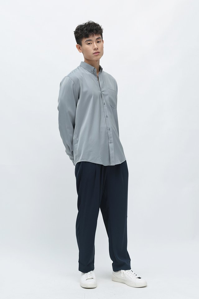 LANE RAYON SHIRT IN FROST