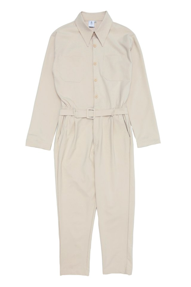 MILLEN LONG SLEEVE JUMPSUIT IN CREAM
